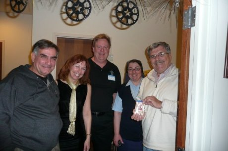 Some of the fine folks at our Oscar Party: Rodney Recor, Nanciann, Paul, moi, Ron Schmidt, SJ