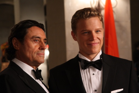 Ian McShane as King Silas, Christopher Egan as David Shepherd -- NBC Photo: Eric Liebowitz