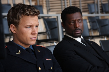 "KINGS -- ""Pilot"" -- Pictured: (l-r) Chris Egan as ""David Shepherd"", Eamonn Walker as ""Reverand Ephram Samuals"" -- NBC Photo: Eric Liebowitz"