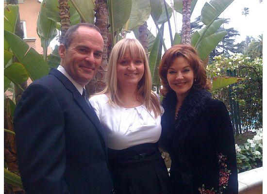 Mark Derwin, my niece Jamie Lynn Weatherfield, and Robin Riker at the CIMA event