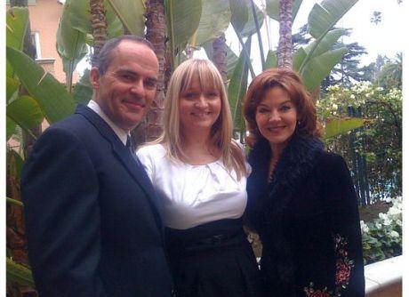Mark Derwin, my niece Jamie Lynn Weatherfield, and Robin Riker at the CIMA event