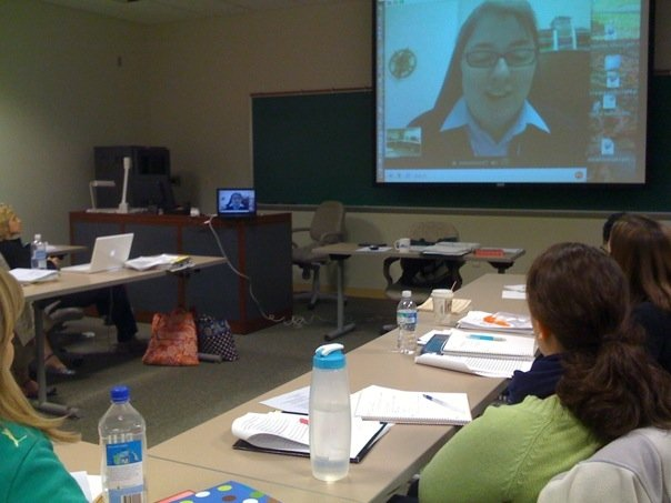 Virtual learning: teaching media literacy via SKYPE!