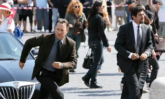 "Tom Hanks reprises his role as Dr. Robert Langdon in Ron Howard's new film ""Angels & Demons"""