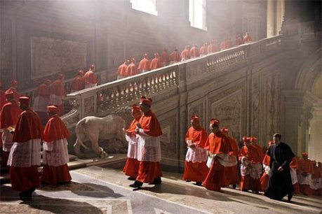 One of my favorite scenes in the film is when the Cardinals have to turn in their cell phones before they enter the Sistine Chapel for the conclave; it was just like what happens to film critics before they enter a screening for a new movie so they cannot sneak any photos out (I had to laugh).