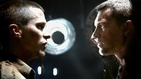 "Christian Bale and Sam Worthington in ""Terminator Salvation"""