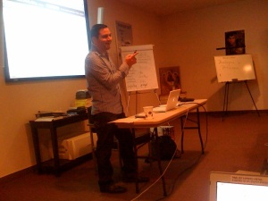 Nick Pernisco, Santa Monica College, teaches about blogging and podcasting