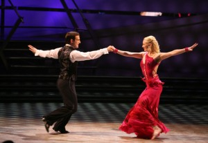 SO YOU THINK YOU CAN DANCE: Evan Kasprzak (L) and Kayla Radomski (R) perform a Viennese Waltz choreographed by Tony Meredith and Melanie LaPatin on SO YOU THINK YOU CAN DANCE Wednesday, July 15 (8:00-10:00 PM ET/PT) on FOX. ©2009 Fox Broadcasting Co. Cr: Mathieu Young/FOX
