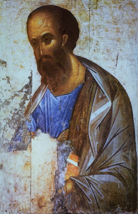 An icon of St. Paul the Apostle by Rublev.
