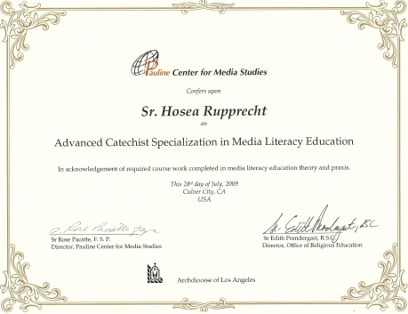 PCMS Certificate