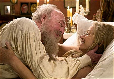 "Christiopher Plummer and Helen Mirren in ""The Last Station"" (also stars Paul Giammati and James McAvoy)"
